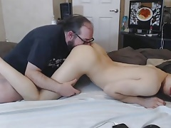 Teen She-male Gets Super-hot Rimjob from Sugar Daddy