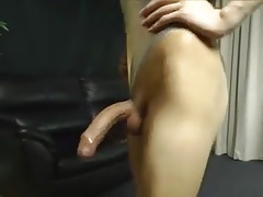Pretty asian crossdresser shegurl with  cock