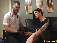Transgender dom anal fucks doctor from the rear