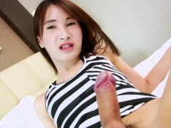 Asian Trans Cutie Pooh Having Fun Alone
