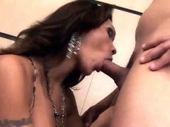 T-girl Yields Her Mouth and Pooper to a Horny Guy