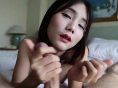 Thai lady-man stands in a  for anal drilling