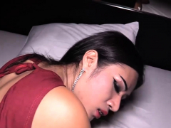 Thai  needs warm spunk inside her tight asshole