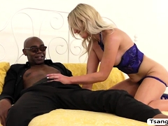 TBabe Superstar Kayleigh Coxx does anal with a BBC
