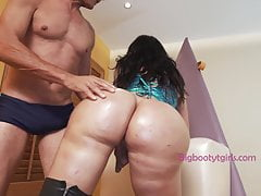Lorey Richi Has That Big Transsexual Booty Oiled and Smashed