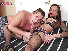 TRANS BELLA - Beamy Cock Brazilian Boom box Melissa Pozzi Hot Anal Flip Flop With Say no to Lover