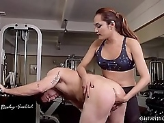 Tranny seduces handsome robust guy and anal bangs him