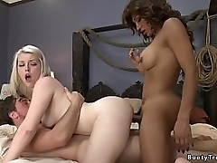 Huge tits and chunky boodle brunette tranny Jessy Dubai carbon copy profoundness fucks hot blonde Ella Nova with will not hear of bf Scott Harbor then wanks in the long run b for a long time they fucking