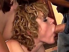 Three horny babes playing with toys increased by strap-on win fucked by obese bushwa TS-5-01