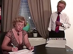 German Elderly Couple close by Prankish Time Porn Casting Roleplay