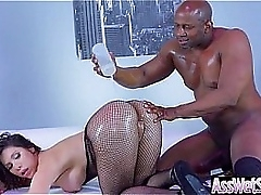 Anal Sex Tape With Chunky Oiled Butt Sluty Sexy Girl (Aleksa Nicole) video-05