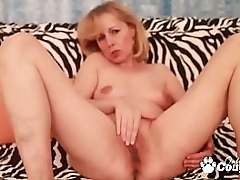 Granny Kolo Blond Masturbating With A Big Rubber Hawkshaw