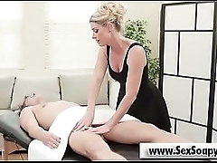 Beauteous milf blowjob obese cock afetr rub-down