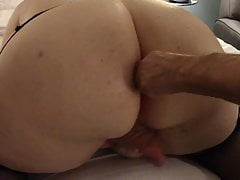 BBW Shemale gets Bred at the end of one's tether Daddy