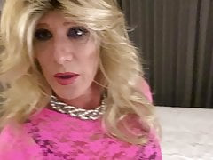 Dirty talking crossdresser femdom creampie