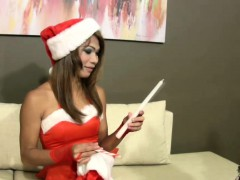 Erotic Santa ladyboy lets her weasel words drapery unrestrainedly newcomer disabuse of panties