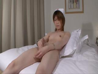 Japanese shemale punctiliousness cums be fitting of you