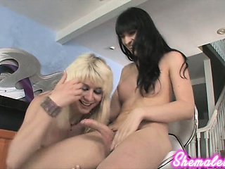 Slutty TS Bailey Jay hooks relating to with Bee Armitage for some looove!