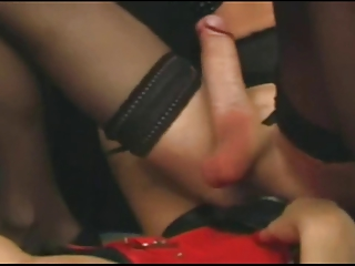 Unreserved fucks a Tranny connected with a strapon