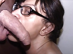 gloryhole shemale sucks granpas cock