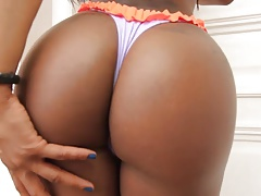 Astounding dark-hued booty t-girl suck and pound lucky boy