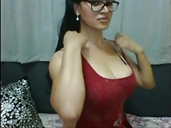 Beautiful Tranny In Glasses Unloads Her Cock On Cam
