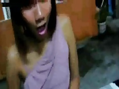 Transgender princess Jerks  Cums In A Very Public